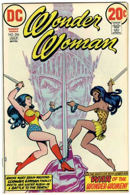 Wonder Woman 206 - War - Chained At Ankles - Swords - Nubia - Mars - Nick Cardy