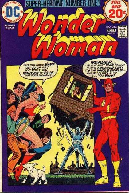 Wonder Woman 213 - Flash - Wonder Woman - House - Family - Freaked Out - Bob Oksner