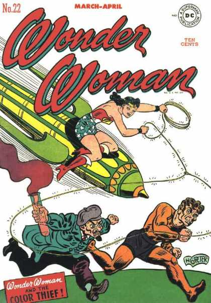 Wonder Woman 22 - Rocket - Lasso - Woman - Bad Guys - March-april - Aaron Lopresti, Harry Peter