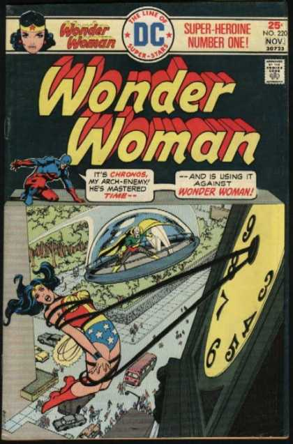 Wonder Woman 220 - Wonder Woman - The Line Of Super Stars - Chronos - Time - Bus - Dick Giordano