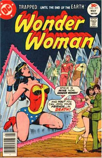 Wonder Woman 231 - Trappeduntil The End Of The Earth - Dc Comics - You Can Join Your Friends In Death - Steve Is Mine Now - Steve Austin Is Held Captive