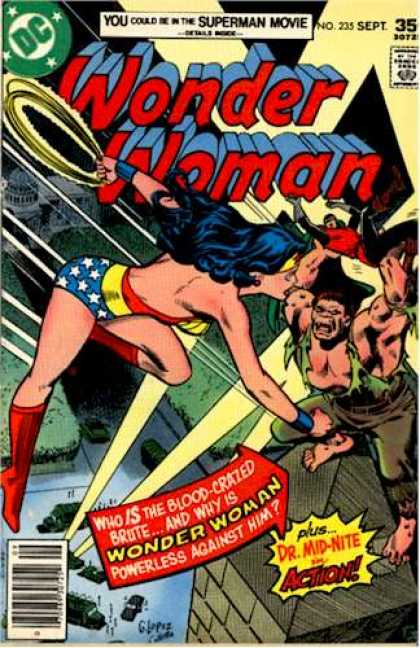 Wonder Woman 235 - Superman Movie - Blood-crazed Brute - Poweless To Stop Him - Doctor Mid-nite - Capitol Building