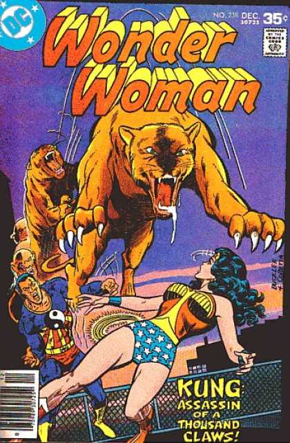 Wonder Woman 238 - Dc Comics - December - Tiger - Kung Assassin Of A Thousand Claws - Gold Lasso - Richard Buckler