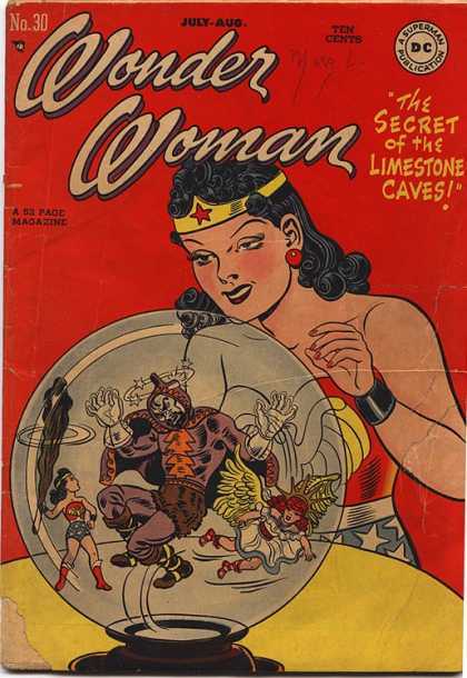 Wonder Woman 30 - The Secret Of The Limestone Caves - Globe - Young Version Of Herself - Young Girl With Wings - Villian - Aaron Lopresti, Design Hi-Fi