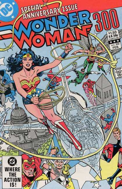 Wonder Woman 300 - Special Anniversary Issue - Aquaman - Superman - Batman - The Flash - Dick Giordano