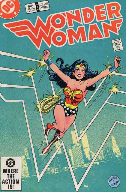Wonder Woman 302 - Skyline - Action - Where - April - Comics - Dick Giordano