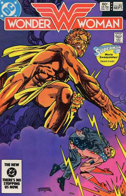 Wonder Woman 307 - Zeus - Superman 3 Sweepstakes - 60 An Issue - Number 307 - Woner Woman Saving A Person