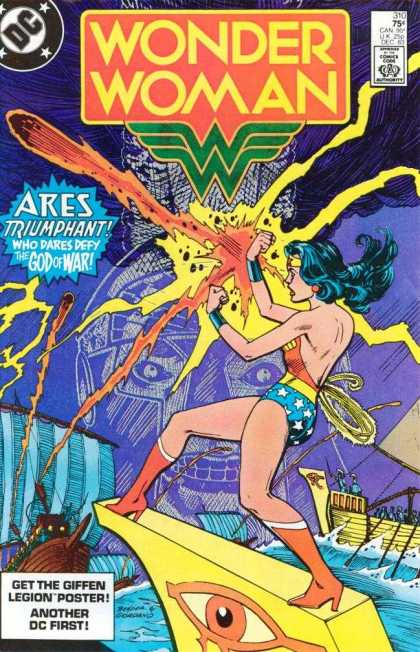 Wonder Woman 310 - Ares - God Of War - Fireball - Boat - Deflect - Dick Giordano