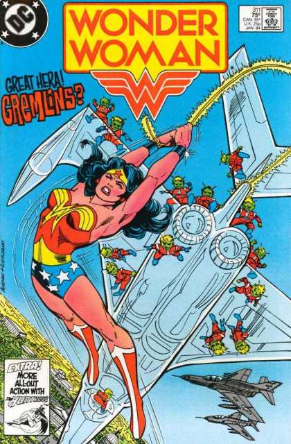 Wonder Woman 311 - Great Hera - Gremlins - Dc - Flying - Planes - Dick Giordano, Ross Andru