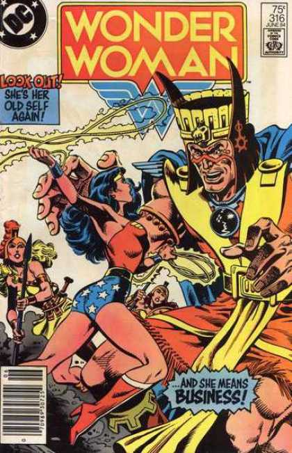 Wonder Woman 316 - Wonder Woman - Look Out Shes Her Old Self Afain - And She Means Business - Lasso - Spear - Eduardo Barreto
