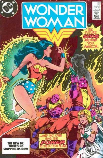 Wonder Woman 318 - Approved By The Comics Code - Superhero - Gun - Fire - Woman