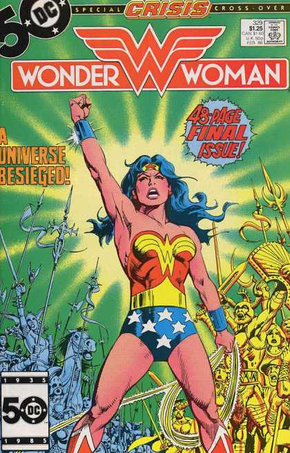 Wonder Woman 329 - A Universe Besieged - Superheroe - Costume - Final Issue - Fighting