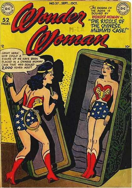 Wonder Woman 37 - No 37septoct - The Enigma Of - The Ages Is - Solved By - The Riddle Of The Chinese Mummy Case - Harry Peter