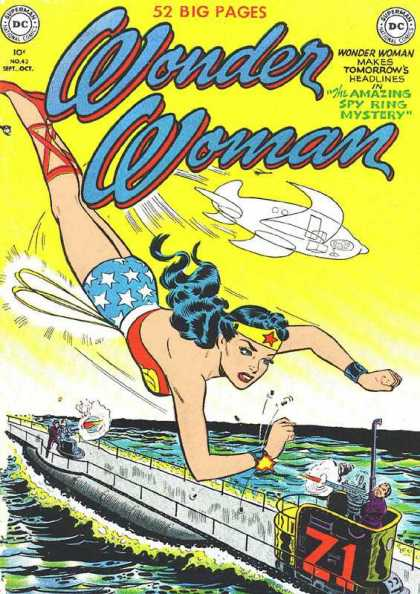 Wonder Woman 43 - Invisible Jet - Diana - Submarine - Bullets - Yellow