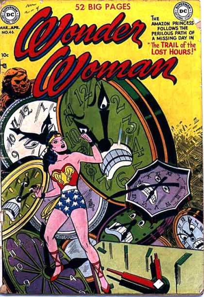 Wonder Woman 46 - 52 Big Pages - Clocks - The Trail Of The Lost Hours - Divider - Woman