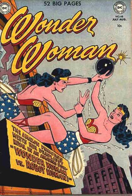 Wonder Woman 48 - Wonder Woman - Dc Comics - Robot Woman - Going Out A Window - Bomb
