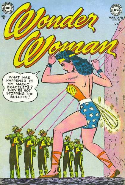 Wonder Woman 58 - Superman National Comics - Superhero - Soldiers - Laser - What Has Happened To My Magic Bracelets