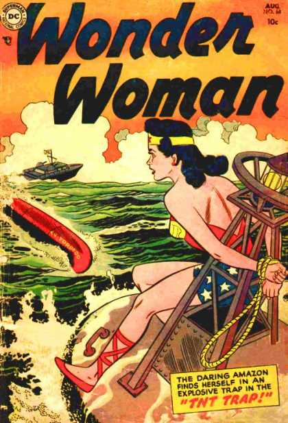 Wonder Woman 68 - Tied Up - Speed Boat - Stuck At Sea - Wonder Woman - Tnt Trap