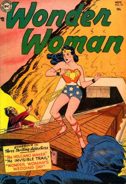 Wonder Woman 70 - November - Dc - 10 Cents - Superhero - Train