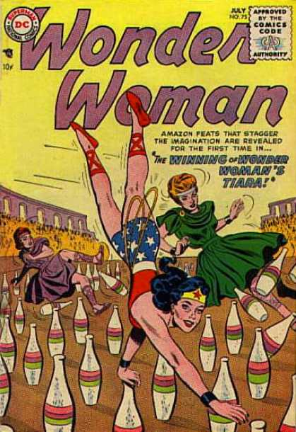 Wonder Woman 75 - Tiara - Amazon Feats - Walking On Hands - Bottles - Stadium