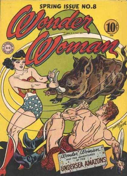 Wonder Woman 8 - Boar - Sword - Dc - Dime - Swinging - Harry Peter, Terry Dodson