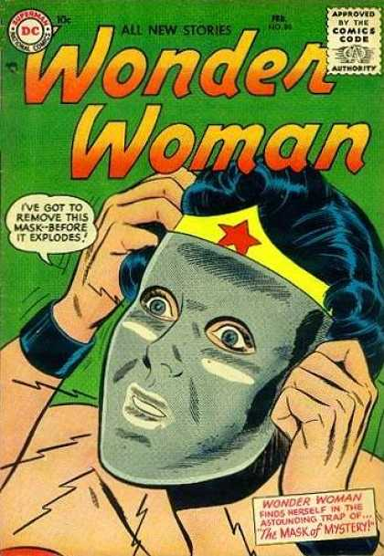 Wonder Woman 80 - Steel Mask - Panic - Wide-eyed - Wonder Woman - Hair Pulling