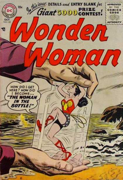 Wonder Woman 85 - Woman - Super Hero - Beach - Bottle - Linda Carter