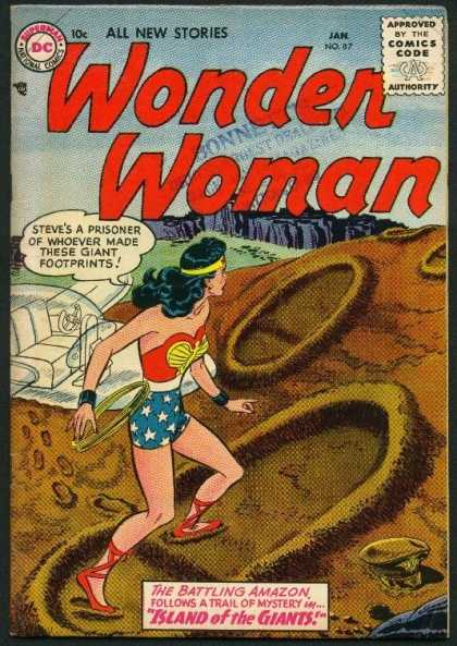 Wonder Woman 87 - Footprints - Invisible Jet - Lasso - Hat - Island Of The Giants
