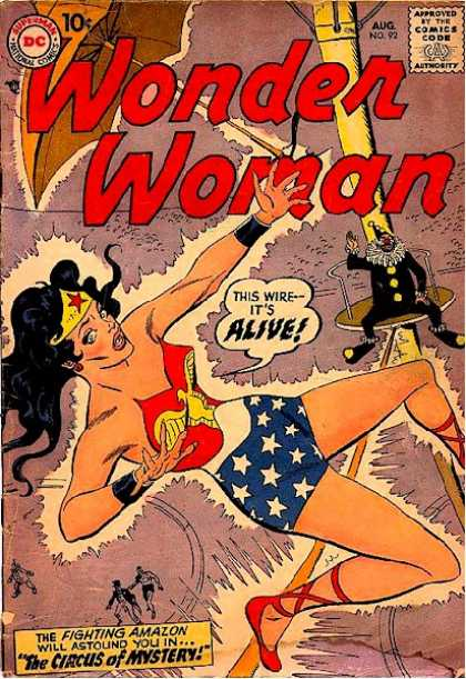 Wonder Woman 92 - Superman - Approved By The Comics Code - Alive - Clown - The Circus Of Mystery