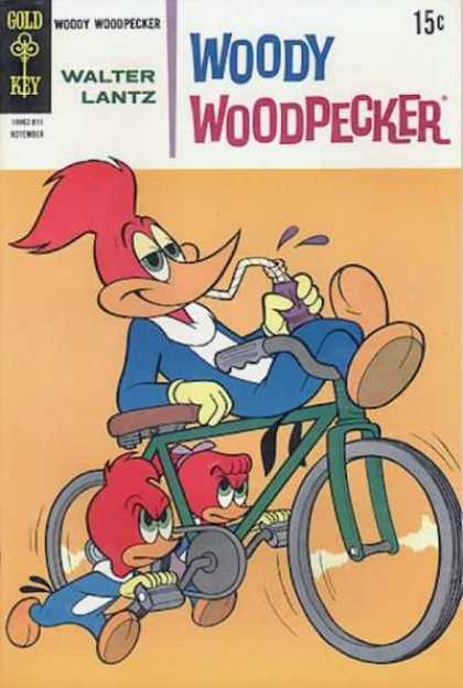 Woody Woodpecker 103 - Purlple Kool Aid - Bike - Boy U0026 Girlpedaling - Wheels - Sitting On Bike