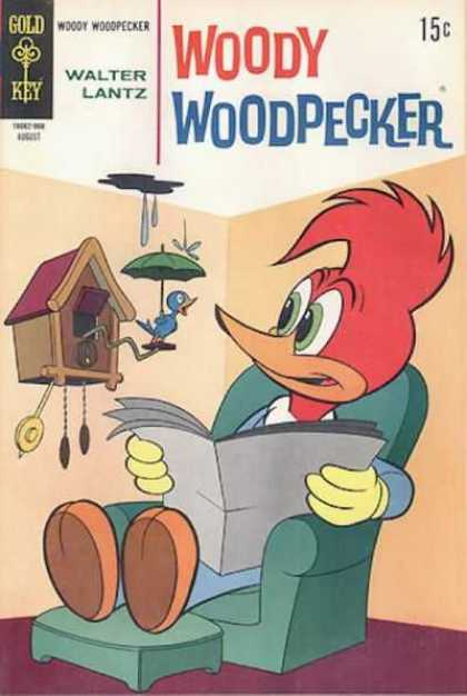 Woody Woodpecker 106 - Cuckoo Clock - Umbrella - Newspaper - Easy Chair - Walter Lantz