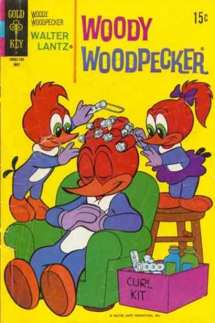 Woody Woodpecker 117 - Curlers - Hairstyle - Birds - Easy Chair - Walter Lantz