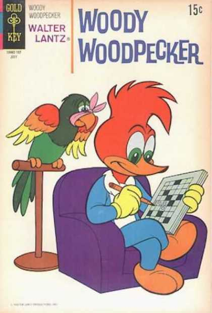 Woody Woodpecker 118 - Gold Key - Walter Lantz - Bird - Pencil - Chair