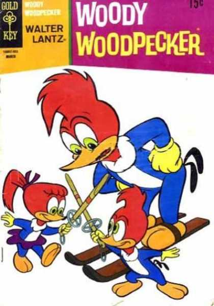 Woody Woodpecker 125 - Gold Key - Walter Lantz - Skis - Swords - Fencing