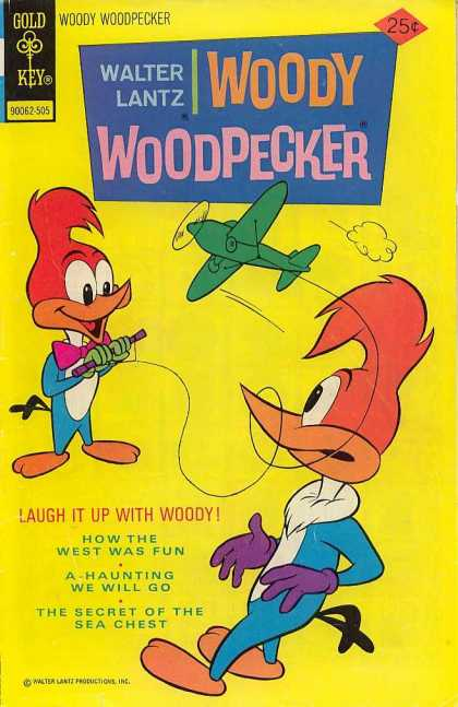 Woody Woodpecker 143 - Aeroplane - 2 Woodpeckers - Rope - Laugh - Beak Rounded With Rope