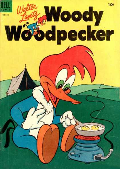 Woody Woodpecker 24 - Walter Lantz - Dell - Wire - Current - No24