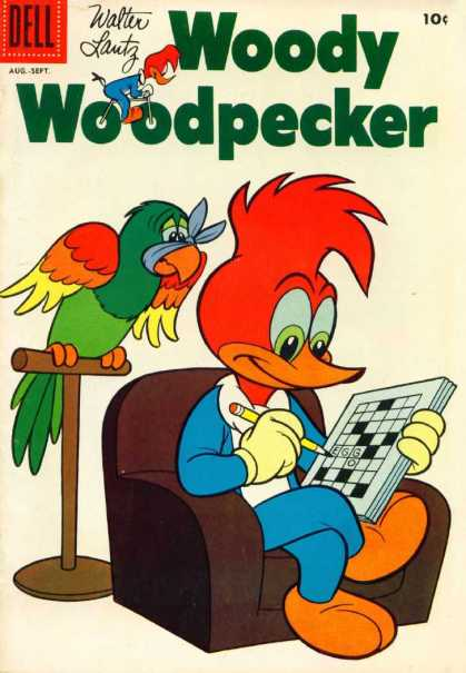 Woody Woodpecker 50 - Sick Parrot - Talking Parrot - Crosswords - Woody Trying To Relax - Quietness