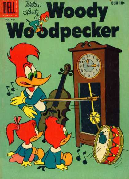 Woody Woodpecker 51 - Clock - Drum - Cello - Music - Kids