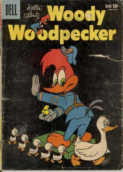 Woody Woodpecker 55 - Walter Lantz - Police - Duck - Ducklings - Whistle