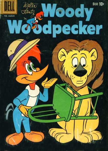 Woody Woodpecker 59 - Dell - Walter Lantz - Lion - Chair - Hat