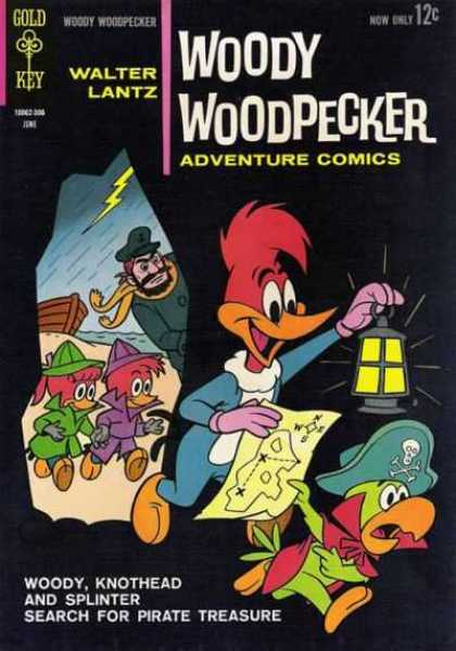 Woody Woodpecker 76 - Cave - Parrot - Kids - Lantern - Pirate Treasure