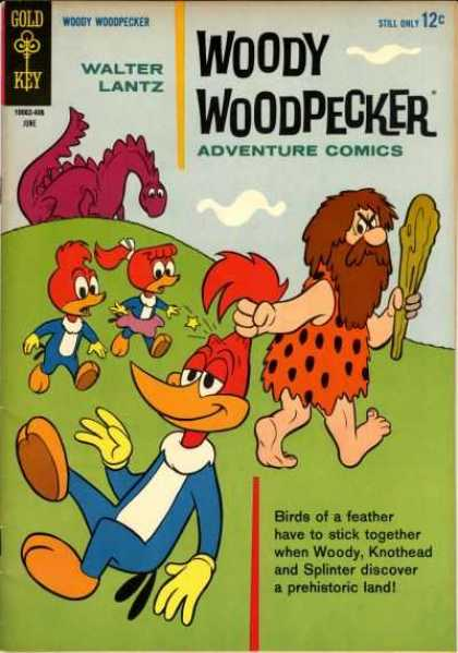 Woody Woodpecker 80 - Dinasour - Gold Key - Walter Lantz - Adventure Comics - Prehistoric Land