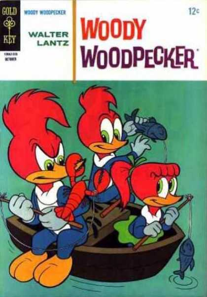 Woody Woodpecker 87 - Fishing - Boat - Fish - Lobster - Skirt