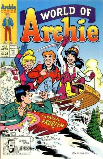 World of Archie 8 - Veronica - Betty - Redhead - Reggie - Sled