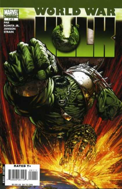 World War Hulk 1 - Green - Armor - Stomping - Earth - Bruce Banner - Christina Strain, David Finch