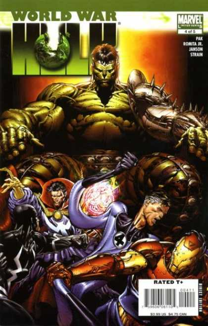 World War Hulk 4 - Monstrous - Muscles - Magic - Iron Man - Apocalypse - David Finch