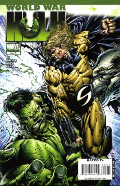 World War Hulk 5 - Hulk - World War - Marvel - Cape - Punch - David Finch