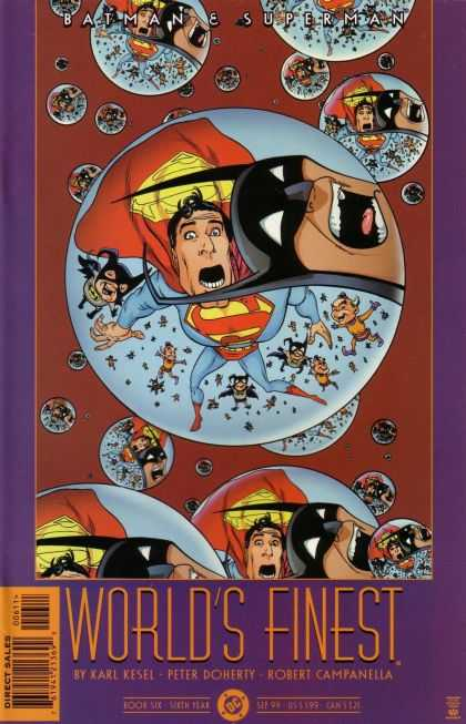 World's Finest (1999) 6 - Mirrored - Bubbled - Deprivation - Multi Balls - Deaf Cirles
