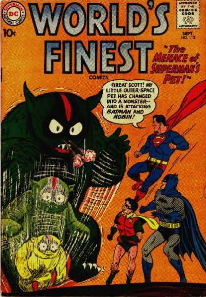 World's Finest 112 - Protectors Of The World - Protection Of Aliens - Will Be A Super Hero - The World Needs All The - Together For Humanity