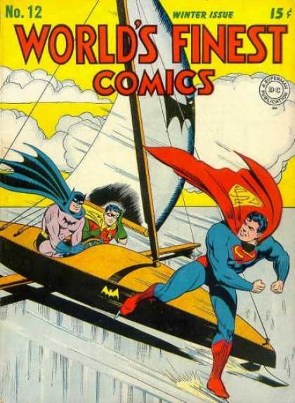 World's Finest 12 - No12 Winter Issue - Superman - Batman - Clouds - Flight